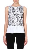French Connection Lotus Cut Work Top - Lyst