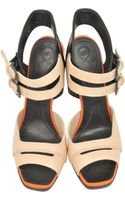 McQ by Alexander McQueen Vanilla Rose Suede and Black Leather Lara Sandal - Lyst