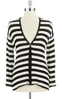 Red Haute Striped Cardigan - Lyst