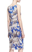 No 21 Cady Toile Sleeveless Fitted Dress - Lyst