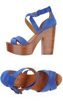 Ralph Lauren Collection High-Heel Platform Sandals - Lyst
