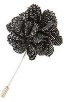 Lanvin Shiny Tweed Rose Lapel Pin - Lyst