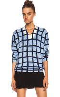 Kenzo Plaid Woolblend Sweater - Lyst