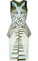 Peter Pilotto Ln Printed Stretchwoven Dress - Lyst