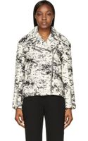 Rag & Bone Ivory and Black Wool Monaco Jacket - Lyst