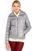 Kenneth Cole Packable Down Zip Front Jacket - Lyst