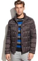Kenneth Cole Boxquilted Puffer Jacket - Lyst