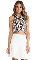 Line & Dot Crop Top - Lyst