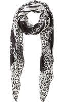 Balmain Zebra Leopardprint Oversized Scarf - Lyst
