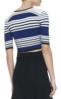 Ohne Titel Striped Textured Crop Top - Lyst