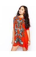 Asos Tshirt Dress in Jungle Print - Lyst