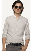 Ralph Lauren Black Label Banded-collar Jersey Pullover - Lyst