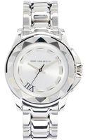 Karl Lagerfeld Round Stainless Steel Watch - Lyst