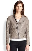 Haute Hippie Detachable Fox Fur Collared Leather Jacket - Lyst