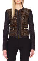 Michael Kors Shimmery Boucle Zip Jacket - Lyst
