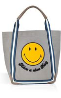 Anya Hindmarch Canvas Smiley Shopper Tote - Lyst