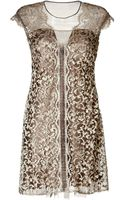 Alberta Ferretti Silk Lace Cocktail Dress - Lyst