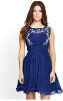 Little Mistress Embellished Waist Detail Dress - Lyst
