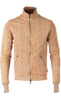 Giorgio Brato Perforated Leather Jacket - Lyst