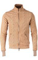 Giorgio Brato Perforated Leather Jacket - Lyst