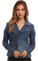 Sam Edelman Denim Moto Jacket - Lyst