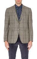 Etro Prince Of Wales Checked Wool and Cashmere Blazer - Lyst