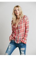 Free People Womens Fp One Pintuck Plaid - Lyst
