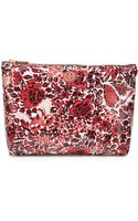 Tory Burch Printed Large Slouchy Cosmetic Case - Lyst
