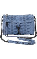 Rebecca Minkoff Snakeprint Mini Mac Crossbody Bag Twilight Sky - Lyst