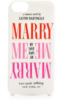 Kate Spade Marry Me Iphone 5 Case - Lyst