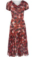 Cc Circle Print Georgette Dress - Lyst