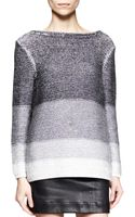 Helmut Lang Plaited Degrade Knit Sweater - Lyst