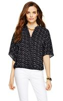 C. Wonder Silk Diamond Dots Top - Lyst