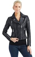 Michael Kors Asymmetrical Zip Moto Jacket - Lyst