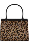 Armani Jeans Leopard Tote Bag - Lyst