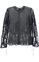 Comme Des Garçons Vintage Distressed Sweater - Lyst