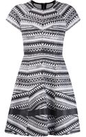 Yigal Azrouel Aztec Striped Dress - Lyst