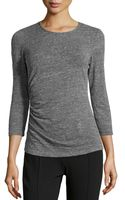 Lafayette 148 New York Ruched Woolblend Top - Lyst