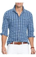 Ralph Lauren Polo Neon Madras Workshirt - Lyst