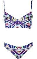 Mara Hoffman Ananda Navy Cami Bikini - Lyst