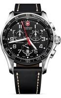Victorinox Classic Chronograph Watch with Leather Strap 45mm - Lyst