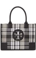Tory Burch Ella Mini Plaid Tote - Lyst