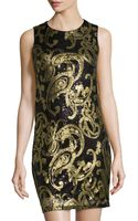 Mark + James By Badgley Mischka Sequin Paisley Cocktail Dress - Lyst