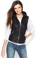 Inc International Concepts Quilted Faux Leather Vest - Lyst