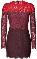 Valentino Heavy Lace Dress in Redscarletruby - Lyst