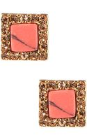 Kensie Stone Stud Earrings - Lyst