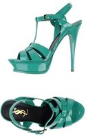 Yves Saint Laurent Rive Gauche Sandals - Lyst