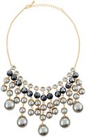 Jules Smith Threetone Resin Pearl Bib Necklace - Lyst