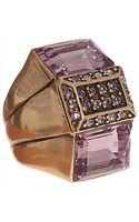Oscar de la Renta Crystal Baguette Ring - Lyst