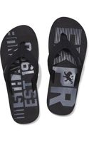 Express Printed Woven Thong Flip Flop - Lyst